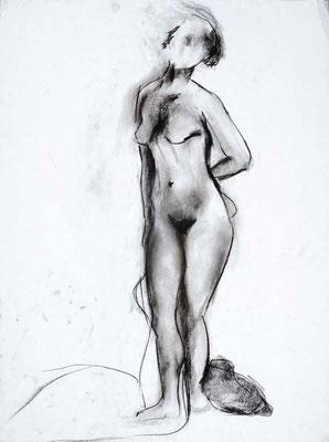#83, fusain sur papier, 45 x 61 cm. - Charcoal on paper, 18 x 24