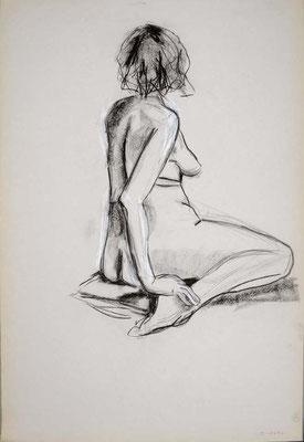 2010, #19, fusain sur papier, 61 x 91 cm. - Charcoal on paper, 24 x 36