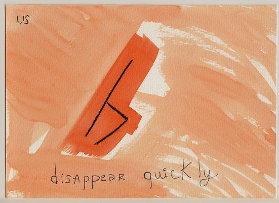 Errances #068, Disappear, 2015, 23 x 17 cm. - 9 x 6.5 inches.