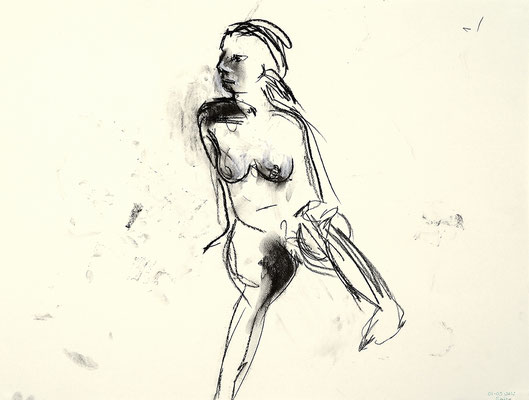 2012, #6, fusain sur papier - Charcoal on paper