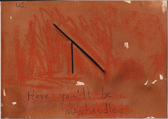 Errances #031, Manhandled, 2015, 23 x 17 cm. - 9 x 6.5 inches.