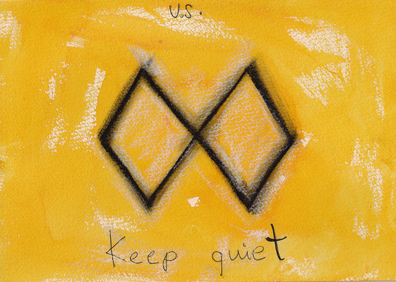 Errances #020, Keep quiet, 2015, 23 x 17 cm. - 9 x 6.5 inches.