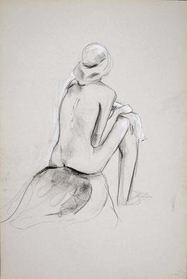 1999, #29, fusain sur papier, 61 x 91 cm. - Charcoal on paper, 24 x 36