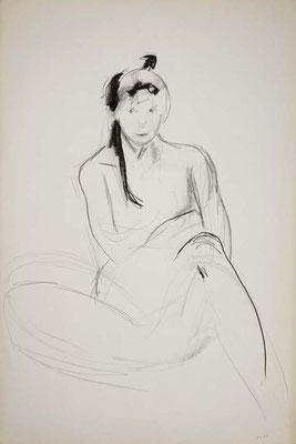 1999, #53, fusain sur papier, 61 x 91 cm. - Charcoal on paper, 24 x 36
