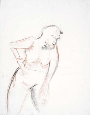 1990, #80, fusain sur papier, 45 x 61 cm. - Charcoal on paper, 18 x 24