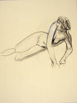 #72, fusain sur papier, 45 x 61 cm. - Charcoal on paper, 18 x 24