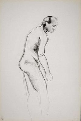 1999, #31, fusain sur papier, 61 x 91 cm. - Charcoal on paper, 24 x 36