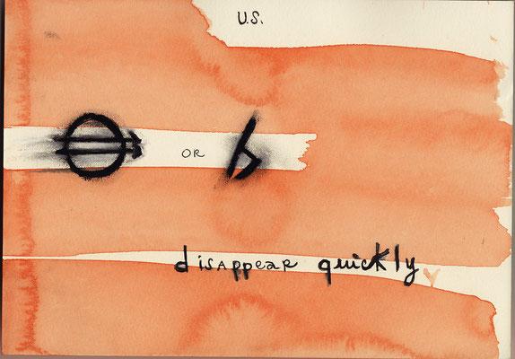 Errances #118, Disappear, 2015, 23 x 17 cm. - 9 x 6.5 inches.