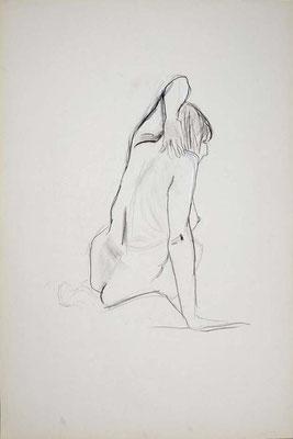 1999, #38, fusain sur papier, 61 x 91 cm. - Charcoal on paper, 24 x 36