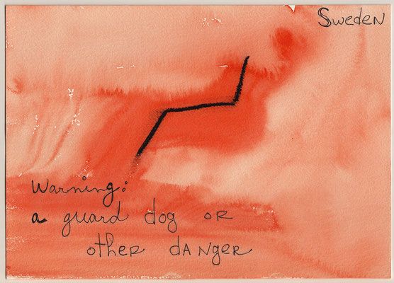 Errances #064, Guard dog, 2014, 23 x 17 cm. - 9 x 6.5 inches.