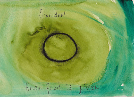 Errances #014, Food, 2015, 23 x 17 cm. - 9 x 6.5 inches.