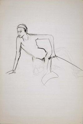 1999, #51, fusain sur papier, 61 x 91 cm. - Charcoal on paper, 24 x 36