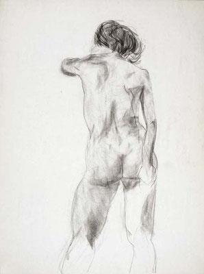 1985, #64, fusain sur papier, 45 x 61 cm. - Charcoal on paper, 18 x 24