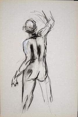 2010, #26, fusain sur papier, 61 x 91 cm. - Charcoal on paper, 24 x 36