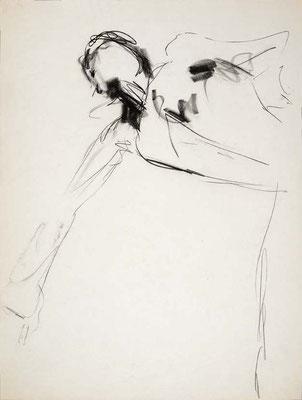 #113, fusain sur papier,  45 x 61 cm- Charcoal on paper, 18 x 24