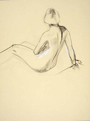 #71, fusain sur papier, 45 x 61 cm. - Charcoal on paper, 18 x 24