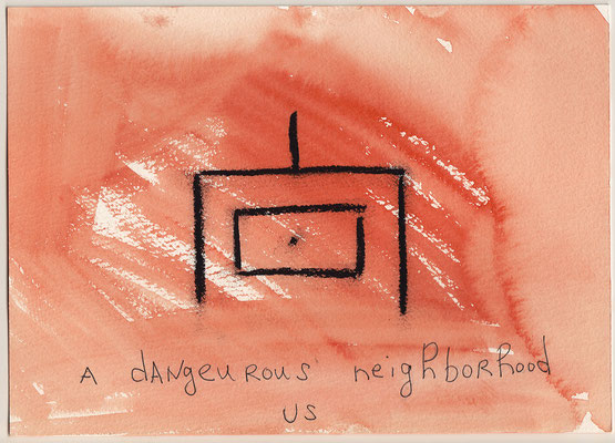 Errances #058, Dangeurous neighborhood, 2014, 23 x 17 cm. - 9 x 6.5 inches.