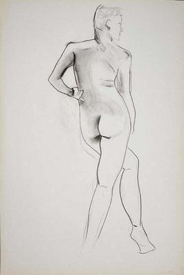 1999, #36, fusain sur papier, 61 x 91 cm. - Charcoal on paper, 24 x 36
