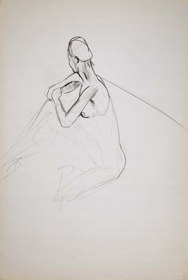 1999, #50, fusain sur papier, 61 x 91 cm. - Charcoal on paper, 24 x 36