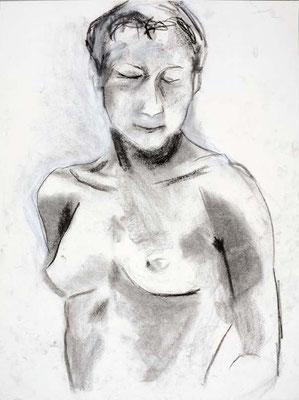#87, fusain sur papier, 45 x 61 cm. - Charcoal on paper, 18 x 24