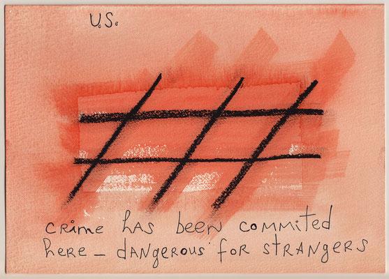 Errances #060, Crime, 2015, 23 x 17 cm. - 9 x 6.5 inches.
