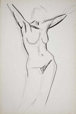 1999, #39, fusain sur papier, 61 x 91 cm. - Charcoal on paper, 24 x 36