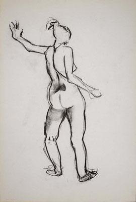 1996, #58, fusain sur papier, 61 x 91 cm. - Charcoal on paper, 24 x 36