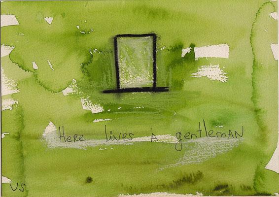 Errances #004, Gentleman, 2015, 23 x 17 cm.- 9 x 6.5 inches.