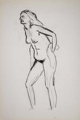 1996, #56, fusain sur papier, 61 x 91 cm. - Charcoal on paper, 24 x 36