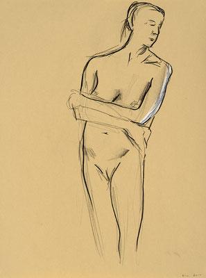 2012, #5,fusain sur papier - Charcoal on paper