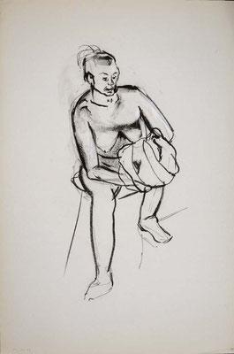 1996, #57, fusain sur papier, 61 x 91 cm. - Charcoal on paper, 24 x 36
