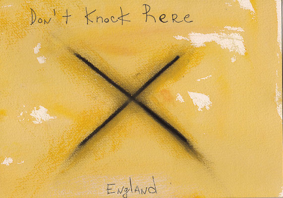 Errances #033, Don't knock, 2015, 23 x 17 cm. - 9 x 6.5 inches.
