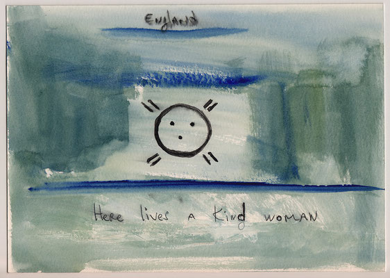 Errances #092, Kind Woman, 2014, 23 x 17 cm. - 9 x 6.5 inches.
