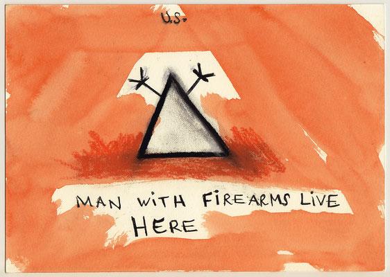 Errances #072, Firearms, 2015, 23 x 17 cm. - 9 x 6.5 inches.