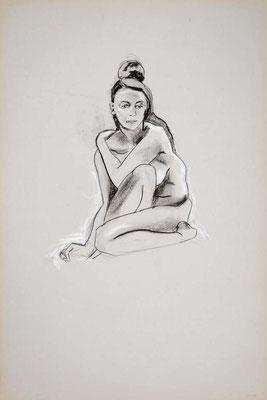 1999, #35, fusain sur papier, 61 x 91 cm. - Charcoal on paper, 24 x 36