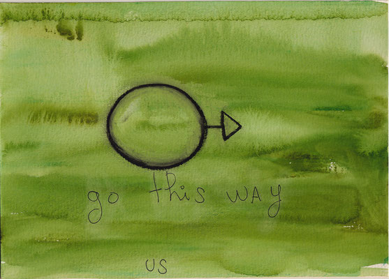 Errances #008, This Way, 2014, 23 x 17 cm. - 9 x 6.5 inches.