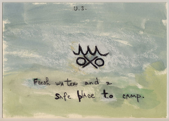 Errances #089, Fresh Water, 2014, 23 x 17 cm. - 9 x 6.5 inches.