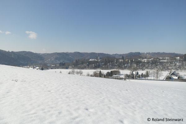 Winterliches Siegtal bei Merten