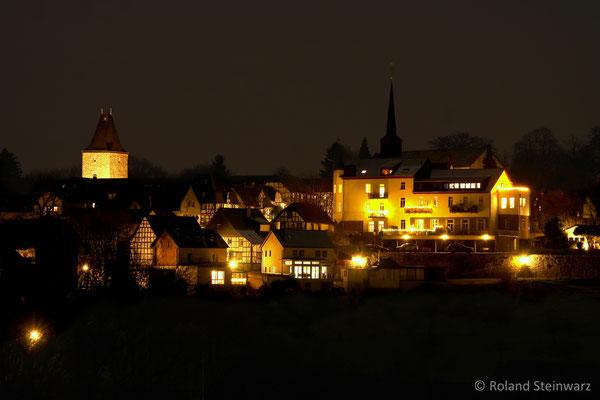 Stadt Blankenberg bei Nacht