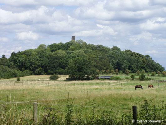Der Tomberg mit der Ruine der Tomburg bei Wormersdorf