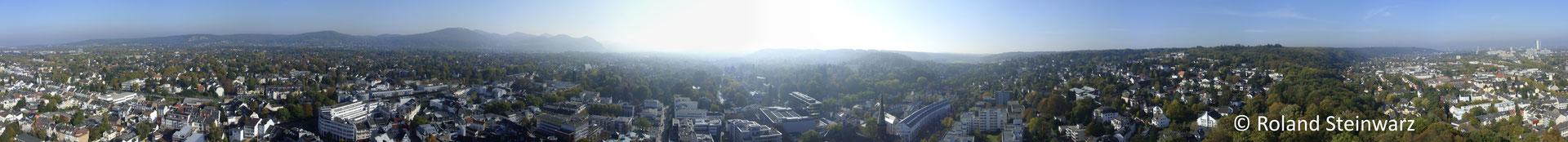 360°-Aussicht von der Godesburg, Bonn. 13 Einzelfotos