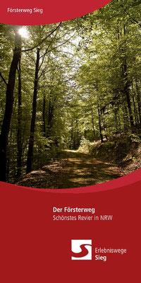 Das Tourismusbüro der Naturregion Sieg nutzte mein Foto aus dem Leuscheider Wald für den Prospekt zur Natursteig-Sieg-Etappe Försterweg.