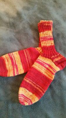 Socken aus 4fach Sockenwollegarn Gr. 39