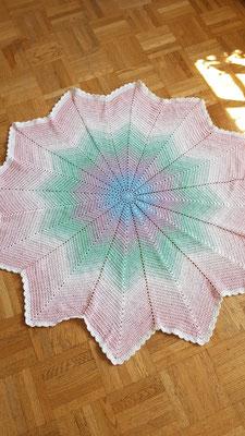 Sternendecke aus Baumwollmischgarn