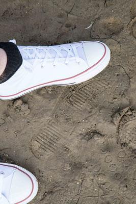 noch waren die Schuhe sauber
