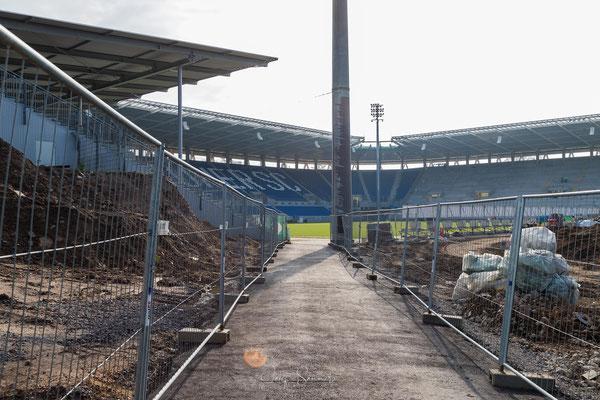 Zugang der Spieler zum Stadion