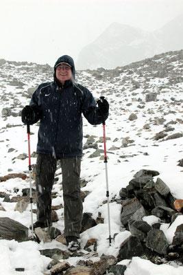 von heftigem Schneetreiben überrascht