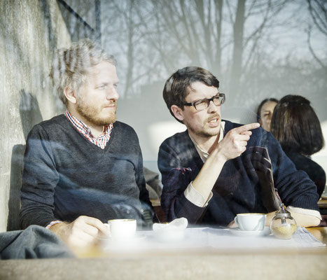 Beim Pressefoto-Shooting im Café Johanna, Foto von Andreas Hornoff