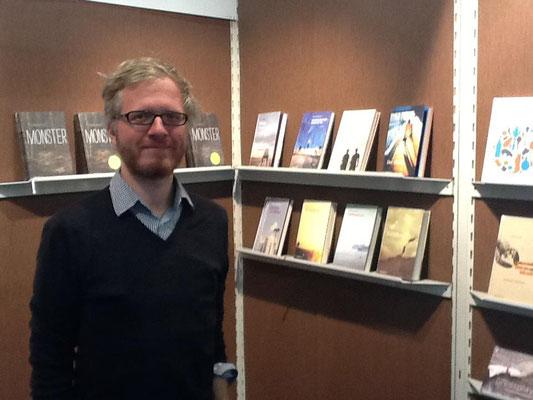 Daniel Beskos am mairisch-Stand, Buchmesse Frankfurt 2012