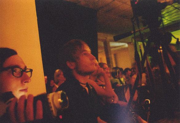 Jörg Albrecht und Finn-Ole Heinrich beim Prosanova-Festival 2005